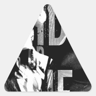 One of a Kind Urban Design Triangle Sticker