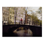 One of Amsterdam's nearly 1,300 bridges crossing i Post Card