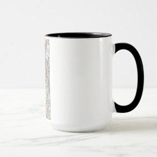 One-of-kind, kitchen Mug. Abstract original Mug