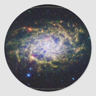 One of our closest galactic neighbors classic round sticker