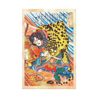One of the 108 Heroes of the Popular Water Margin Canvas Print