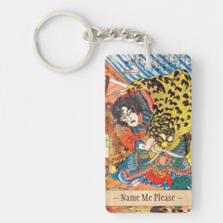 One of the 108 Heroes of the Popular Water Margin Rectangle Acrylic Keychain