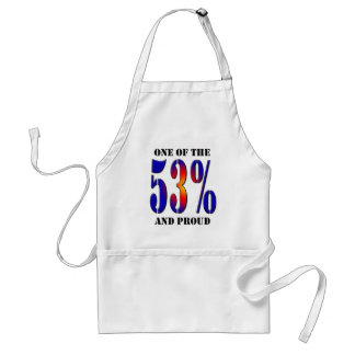 One of  the 53 Percent and Proud Taxpayer Adult Apron