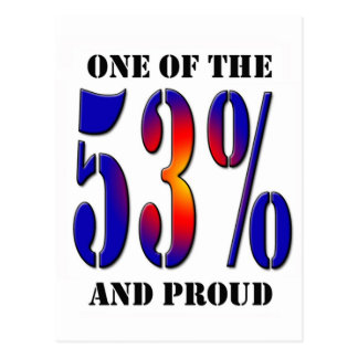 One of  the 53 Percent and Proud Taxpayer Postcard