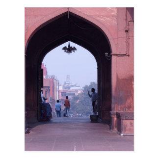 One of the doorways of Jama Masjid Post Card
