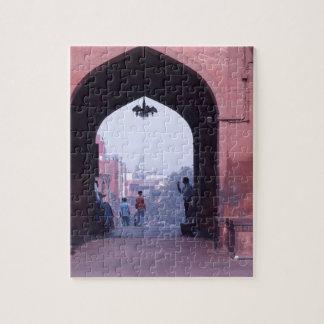 One of the doorways of Jama Masjid Jigsaw Puzzle