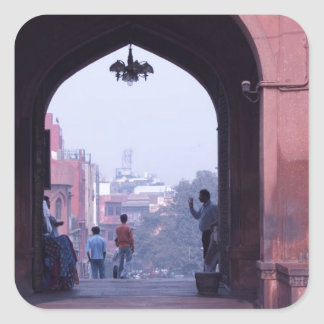 One of the doorways of Jama Masjid Square Stickers