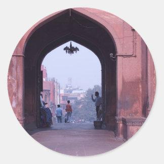 One of the doorways of Jama Masjid Sticker
