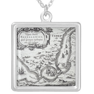 One of the earliest maps of the Magellan Square Pendant Necklace