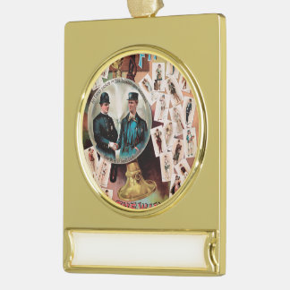 One of the Finest. Chewing and Smoking Tobacco. Gold Plated Banner Ornament