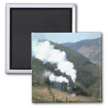 One of the Great Little Trains of Wales near Devil 2 Inch Square Magnet