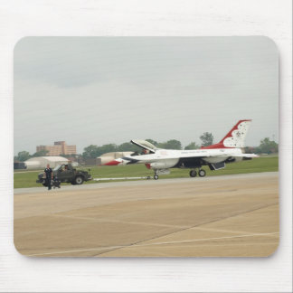 """one of the """"Thunderbirds"""" F-16 at Langley A.F.B.. Mouse Pad"""