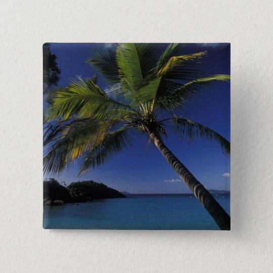 One of the World's Best beaches; Trunk Bay on Pinback Button