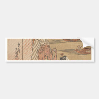 One of Thirty-Six Flowers (Japanese woodblock) Bumper Sticker