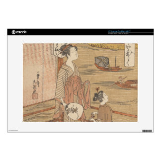One of Thirty-Six Flowers (Japanese woodblock) Decal For Laptop