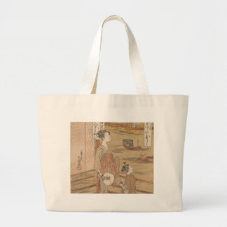 One of Thirty-Six Flowers (Japanese woodblock) Large Tote Bag