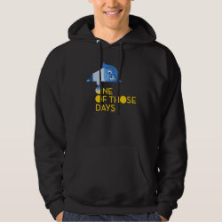 Men's Basic Hooded Sweatshirt with One of Those Days with Inside Out's Sadness design
