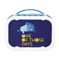 Blue yubo Lunch Box with One of Those Days with Inside Out's Sadness design