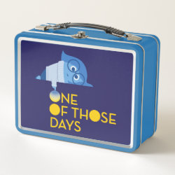 Metal Lunch Box with One of Those Days with Inside Out's Sadness design