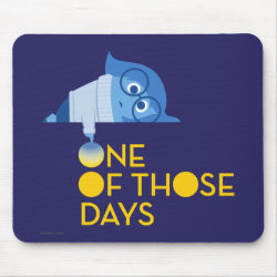 Mousepad with One of Those Days with Inside Out's Sadness design