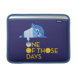 Macbook Air Sleeve with One of Those Days with Inside Out's Sadness design