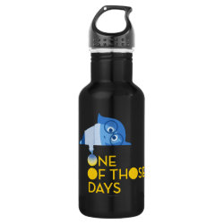 Water Bottle (24 oz) with One of Those Days with Inside Out's Sadness design