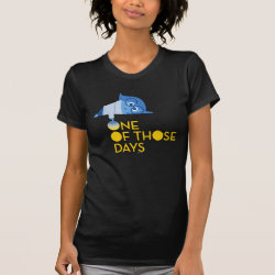 Women's American Apparel Fine Jersey Short Sleeve T-Shirt with One of Those Days with Inside Out's Sadness design