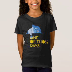 Girls' Fine Jersey T-Shirt with One of Those Days with Inside Out's Sadness design