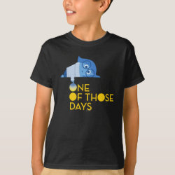 Kids' Hanes TAGLESS® T-Shirt with One of Those Days with Inside Out's Sadness design