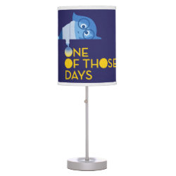 Table Lamp with One of Those Days with Inside Out's Sadness design