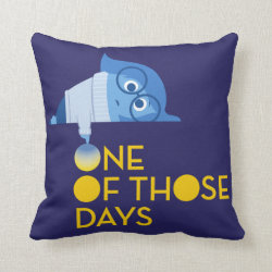 Cotton Throw Pillow with One of Those Days with Inside Out's Sadness design