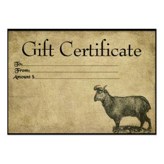 One Ol' Goat- Prim Gift Certificate Cards