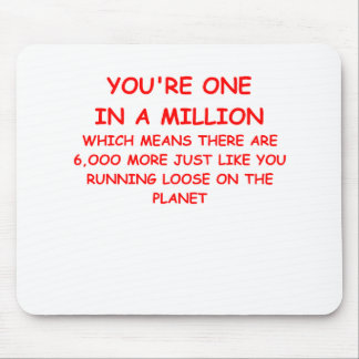one on a million mouse pad