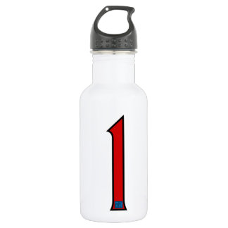 One on Red Stainless Steel Water Bottle