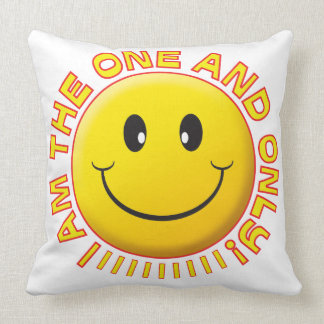 One Only Smiley Pillow