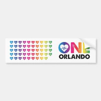 One Orlando One Pulse 49 Hearts Rainbow Bumper Sticker