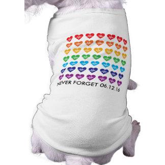 One Orlando One Pulse 49 Hearts Rainbow Pet T-Shirt