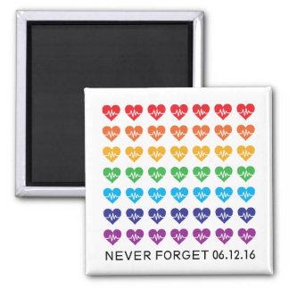 One Orlando One Pulse Rainbow 49 Hearts Magnet