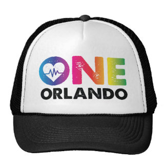 One Orlando One Pulse Rainbow Heart Trucker Hat