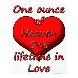 One ounce of Heaven, One lifetime in Love Letterhead
