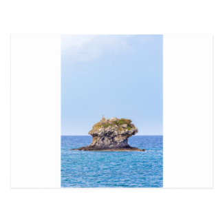 One outstanding rock rising from sea level postcard