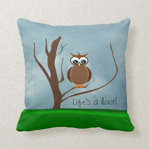 One Owl/Two Owls Sitting in a Tree Pillow