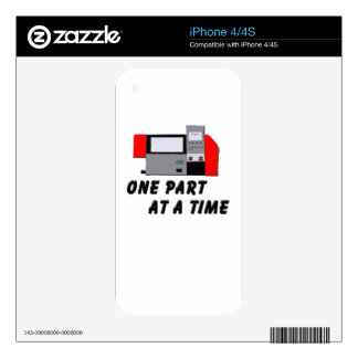 One Part At A Time Skin For The iPhone 4S