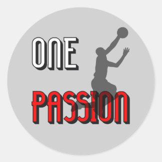 One passion basketball sticker
