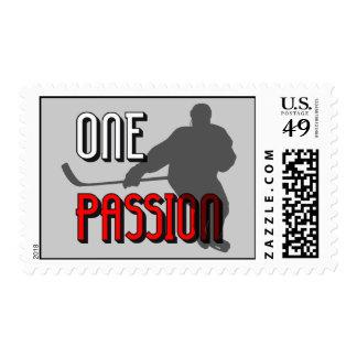 one passion hockey postage stamp