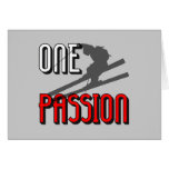 one passion skiing greeting card
