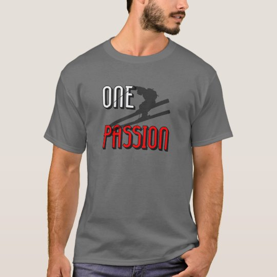 one passion skiing T-Shirt