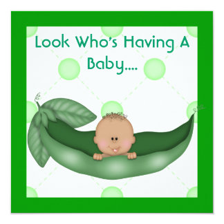 ONE PEA IN A POD BABY SHOWER INVITATIONS