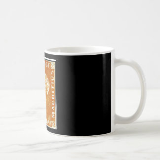 One Penny British Empire Mauritius Postage Stamp Coffee Mugs