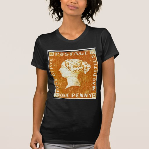 One Penny British Empire Mauritius Postage Stamp T-shirts